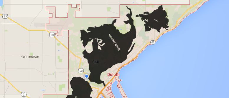 Duluth fact 4 all of the worlds continents fit within the duluth duluth fact 4 all of the worlds continents fit within the duluth city outline topicsmaps gumiabroncs Gallery